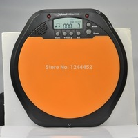 New Meideal Portable DS100 Drums Electronic Drummer Training Pad Drum Tutor - Black + Orange (2 x AAA) Free Shipping