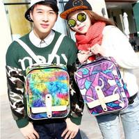 ANGEL ! 2015 Women Backpacks Brand Fashion multicolor Cross backpack men's travel bags men's backpacks FF687