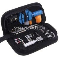 Free Shipping 2015 New 13pcs Watch Repair Tool Kit Set Case Opener Link Spring Bar Remover Tweezer -G005