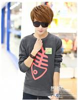 billionaire boys club Korean cotton pullover sweatshirt men Fish bone pattern sudaderas hombre tee