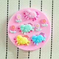 2O14 New High quality Sheep silicone mold,Fondant Cake Decorating Tools,Silicone Soap Mold,Silicone Cake Mold