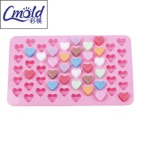 55 holes 1.5 Mini heart silicone cake mold Chocolate Fondant Jelly Cookie Muffin ice mould Flexible moulds cupcake bake tools