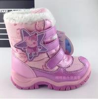 2014 New children snow boots fur winter girls Children Thicken Shoes For baby Kids child snow boots