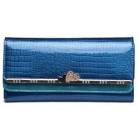 2015 fashion luxury women wallets designer brand genuine leather wallet purse long lady clutch evening bags