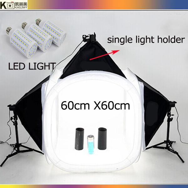 2015 hot Photography studio 50x70cm SoftBox Lighting Kit 60cm cube tent 3pcs led light Photography Studio Equipment Set(China (Mainland))