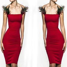 Red Elegant Bodycon Dresses 2015 New Fashion Sexy Bandage Women's Party Club Dress Clubwear Nightclub Bandage Dresses(China (Mainland))
