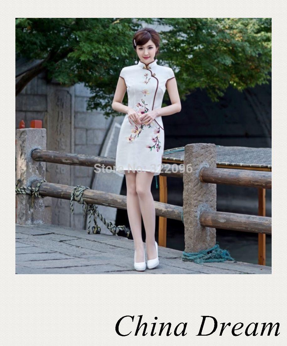 тонкий элегантный Винтаж cheongsam платье qipao