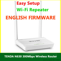 English Firmware TENDA N630 WiFi Router 300Mbps 802.11 b/g/n Wireless Router Wi-Fi Repeater Network Range Expander RJ45 4 Ports