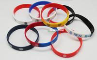 1pcs Soccer Club team Souvenir Rubber Bracelet Real Madrid Bangle Barca Wristband Gift Wristlet Free Shipping