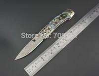 damascus steel folding knife 58HRC hardness pocket knife outdoor knife gift knife FREE SHIPPING