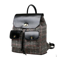 ANGEL ! 2015 new College style cotton fashion backpack casual Backpack the knapsack girl's school bag men's travel bags FF690