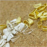 4 colors 300PCS/LOT Pendant Clips & Pendant Clasps, Pinch Clip Bail Pendant Connectors . Jewelry Findings DIY