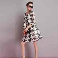 Free Shipping real shot 2015 highend womens clothing fashion thousand birds  size jacket 201412042823