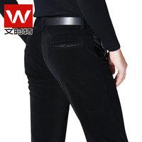 New winter men's business casual corduroy jeans / straight denim long trousers Korean tidal 014
