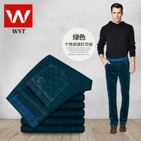 New winter men's business casual Corduroy jeans / straight denim long trousers Korean tidal 012