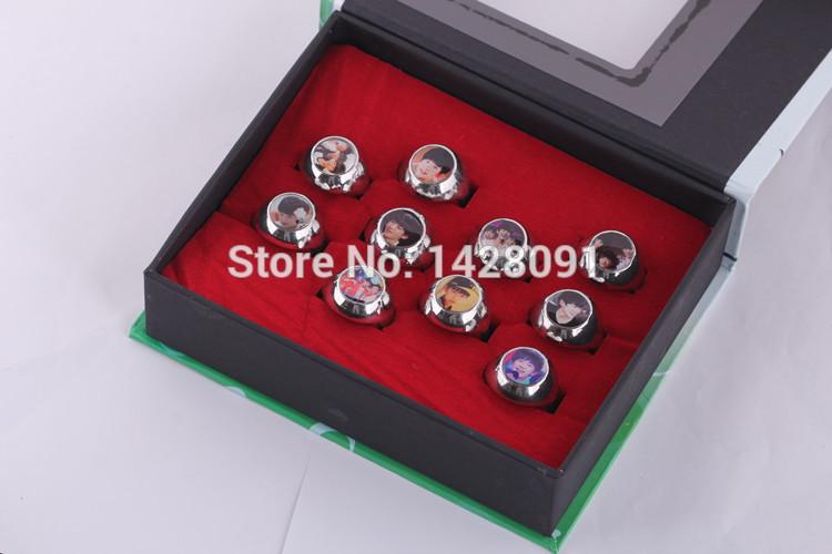 Free Shipping T F a family ring suit TFBOYS chun-kai wang rings around stars(China (Mainland))