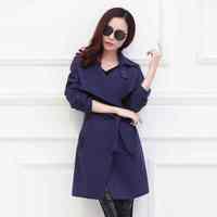 Free Shipping new 2015 201412313615 trench coat flow coat long trench coat womens coat