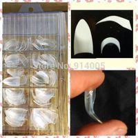 100pcs french tip in box, 2014 New Fake nail Talon Nail Tips clear color False Nail Tips Acrylic ABS salon NAIL