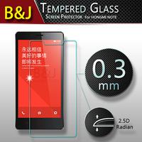 2.5D 0.3mm Original Round Edge Premium Tempered Glass Screen Protector For Xiaomi Hongmi Redmi Note Anti-shatter Phone Film