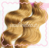 4pcs lot 6A Honey Blonde Body Wave Cheap Hair Weave Human Bouncy Curl Hair Sexy Lady Virgin Brazilian Hair Extensions wavy