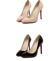 2015 Women Sexy Pumps Stiletto 11cm Heels Red Bottoms High Heels Wedding Shoes 6 colors