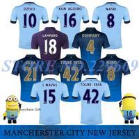 14/15 Manchester City Soccer Jersey 2015 MAN CITY Football Shirt MC Soccer Jersey Home Away 2nd Away TOP Thailand AGUERO TOURE