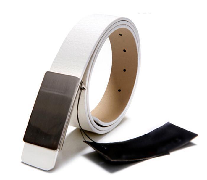 New 2015 Fashion Designer Metal Automatic Buckle Faux Leather Men Belts Brand Men Accessories