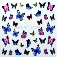 3D Design cute DIY watermark butterflies Tip Nail Art Nail Sticker Nails Decal Manicure nail tools
