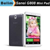 2015 New 8inch Tablet PC Sanei G808 Quad core MTK8382 IPS Screen 3G Mini Pad 8.0MP Dual Camera GPS Navigation Kid's Tablet Phone