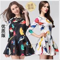 2014 new women's dress in the latest European spring dress