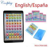 Free shipping CP2015SE 8 inch mini English &Spanish pad electronic toys / Spanish languageTable /Educational Machine