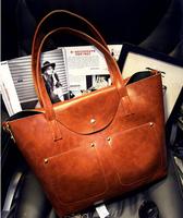 2015 NEW Arrival Fashion big bags vintage oil skin one shoulder bag picture handbag one shoulder cross-body female bag
