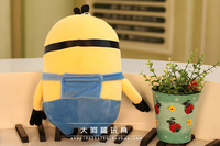 1 pcs BNWT DESPICABLE ME LARGE MINION SOFT PLUSH TOY Free shipping Yellow people  Film animation Free shippin  The real