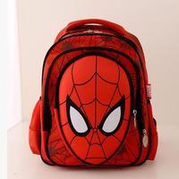 ANGEL ! 2015 Primary school backpack style spiderman backpack brand school bag men's travel bag capacity backpacks FF712