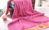 Pink orange stripes 2pcs set 100% cotton towel set Bath towel:68x137cm Face towel:50x80cm wedding gifts soft touch