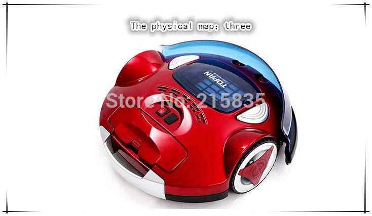 Mini Wine Red Vacuum Cleaner Automatic Intelligent Robot Vacuum Cleaner Intelligent Low Noise Robot Cleaner(China (Mainland))