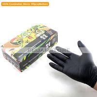 50 Pairs Black Medium Tattoo Gloves Tattoo Supply Nitrile Examination Disposable Tattoo Gloves Waterproof