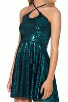 Large Size 2015 Women's Clothing Spring Fashion Summer Geometric Patterns Dress Pleated Dress Foil Print Sexy Women Dresses