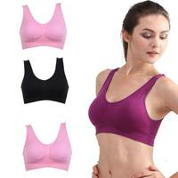 Women Seamless Yoga Sports Padded Bra Tops Underwear Leisure Crop Top Vest S-3XL Free Shipping