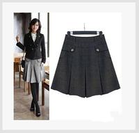 2015 Fashion Women Skirt Autumn And Spring Casual Skirt Slim Hip Short Skirt Woolen Pleated Skirts Womens