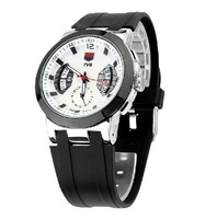 TVG KM478 Men's Watch Silicone Gel Strap Alloy Case Calendar Military Navy Troops Special Forces Watch