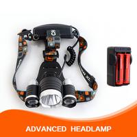 Hot CREE XM-L T6*3 LED Bicycle Light Headlight LED light 3 Modes 4800Lumens + 2* 3000mah battery+ charger