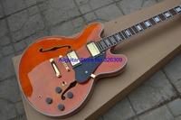 Wholesale- Custom Shop Orange ES335 Jazz Guitar Gold Hardware High Quality Wholesale HOT