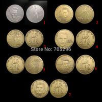 Set of Elvis Wholesale 7 pcs (different design)1oz  Elvis Presley the king of rock roll 1935 -1977 super star coin