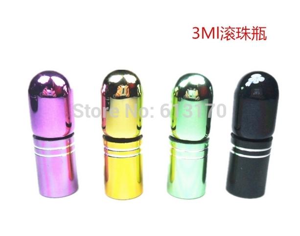 3ML empty perfume bottles glass protability roll on bottle mini cute wholesale free shipping(China (Mainland))