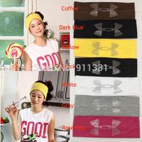 wholesale 2015 New Personality Crystal Rhinestone Sport Yoga Elasticity Knitting Headband Headbands For Fashion Women FH0017