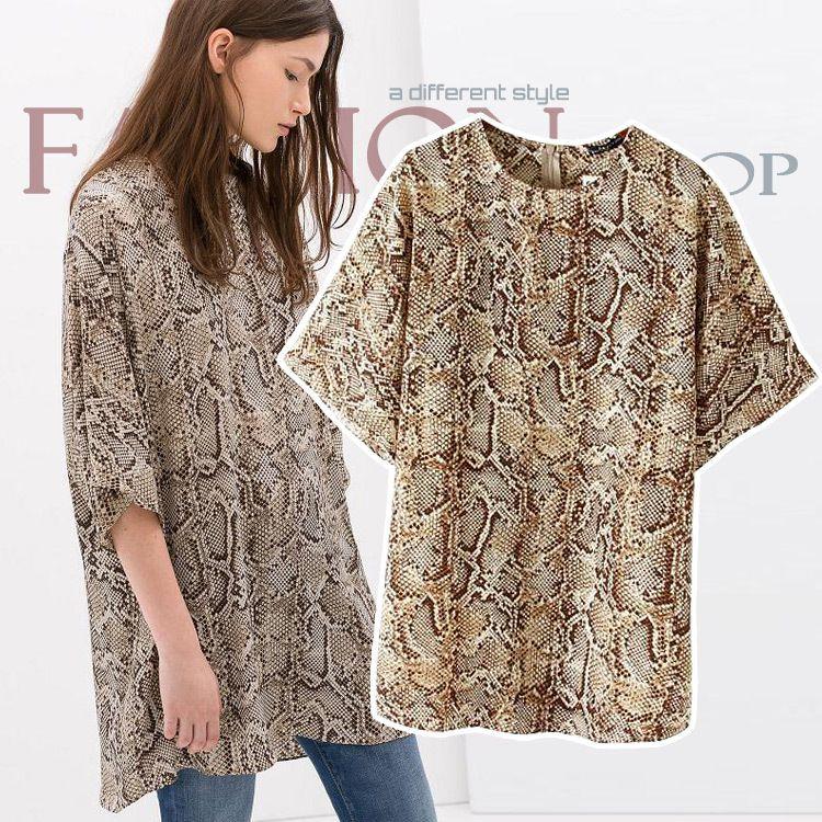 Snake Print t Shirt Print Snake Long Shirt