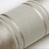 Modern Grey Horizontal Stripes Wallpaper papel de parede moderna designs wall paper striped silver grey  of wall paper zk67