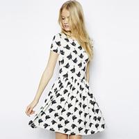 2015 peace love print dress short sleeve vestidos femininos de fiesta casual free shipping vestido de festa renda plus size