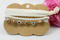 Wholesale 2015  New design hot selling bracelet sets,eyes and lace bracelet,forever blue necklace set, BG009,can mix desige